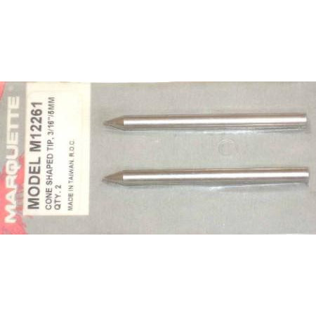 Solder Cone Shape Tip 3/16 2pc - ATL Welding Supply