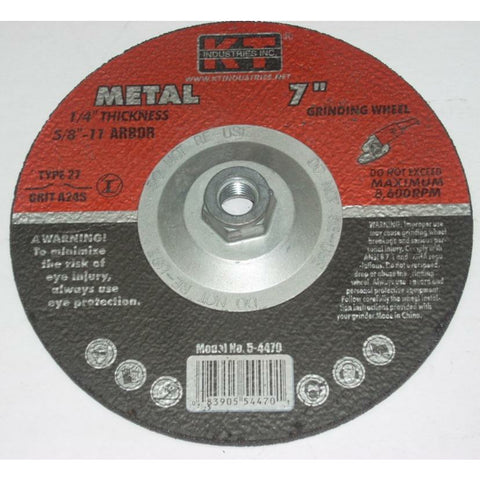 KT Industries 5-4470 7 x 1/4 x 5/8-11 Depressed Center Grinding Wheels 10pk