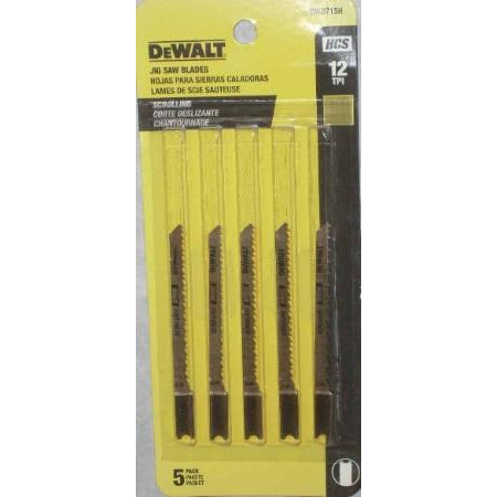 Dewalt Jigsaw Blades 5pk 12TPI - ATL Welding Supply