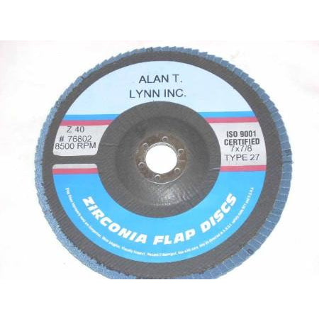7 x 7/8 Zirconia Flap Wheels 40 Grit 10 Pack - ATL Welding Supply