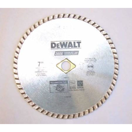 Dewalt 7 inch Diamond Masonry Blade Wet Dry - ATL Welding Supply