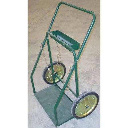 "13 x 25 Large Cylinder Tank Cart 14"" Wheels - ATL Welding Supply"