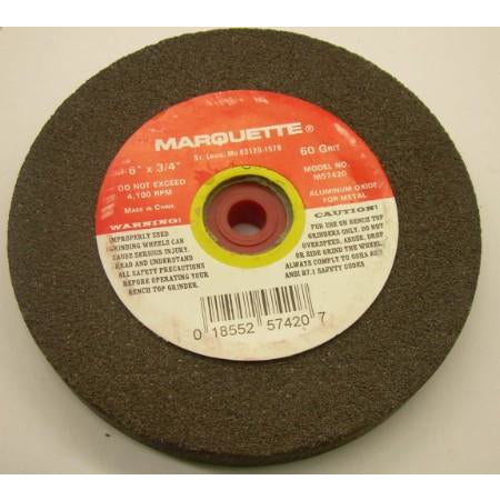 6x3/4x1/2-1 Bench Grinding Wheel 80 Grit