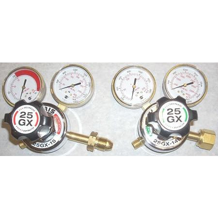 Harris Model 25GX Oxygen Acetylene Regulator Set - ATL Welding Supply
