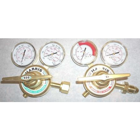 Harris Model 450 Oxygen Acetylene Regulator Set