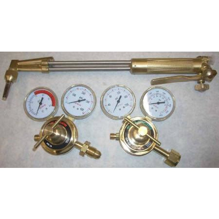 "18"" Harris style LP Cutting Torch Regulator Kit 90 Deg - ATL Welding Supply"