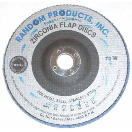7 x 7/8 60 Grit High Performance Zirconia Flap Wheels - ATL Welding Supply