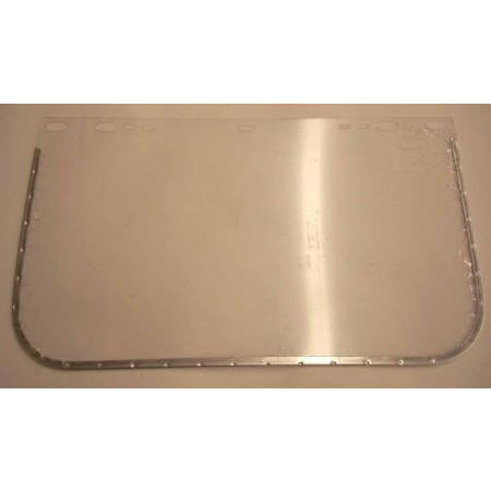 Jackson style 8 x 12 Metal Bound Grinding Face Shield Window - ATL Welding Supply