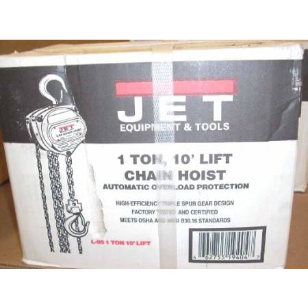 Jet 1 Ton Chain Hoist 10' Lift Model # L-95 - ATL Welding Supply
