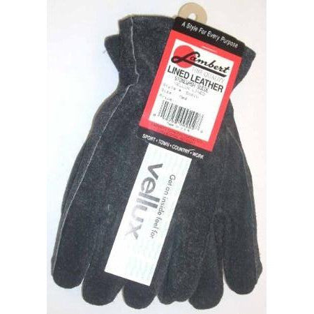 Lambert Black Stonewash Suede Velux Lined Medium