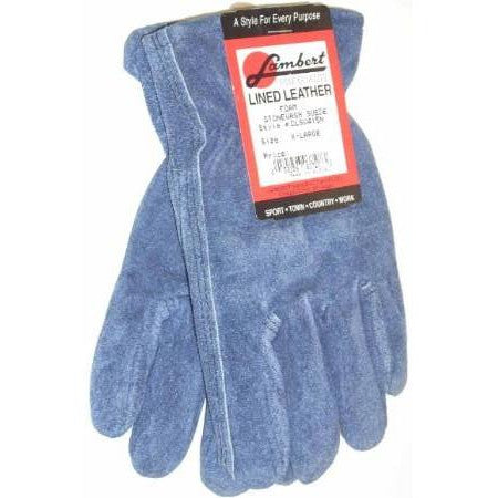 Lambert Blue Stonewash Suede Gloves Foam Lined XL