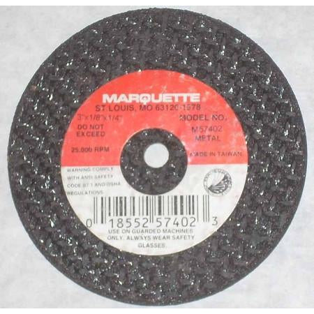 Marquette 3 x 1/8 x 1/4 Cut Off Wheel 10pk - ATL Welding Supply