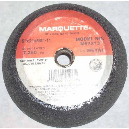 Marquette 5 x 2 x 5/8-11 Flanged Cup Wheel - ATL Welding Supply