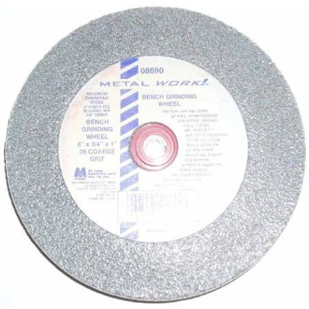 Metalwork USA 6 x 3/4 x 5/8-1 Bench Grinding Wheel 36g - ATL Welding Supply