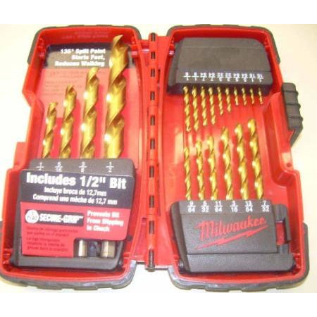 Milwaukee 20PC 1/2 Drill Bit Set Titanium - ATL Welding Supply