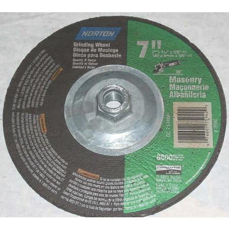 Norton 7 x 1/4 x 5/8-11 Masonry Grinding Wheels 10pk - ATL Welding Supply
