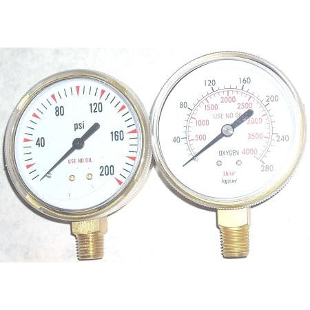 Oxygen Regulator Gauge Set 2 1/2""