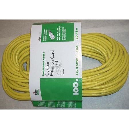 Paige Outdoor 12/3 Extension Cord 100' - ATL Welding Supply