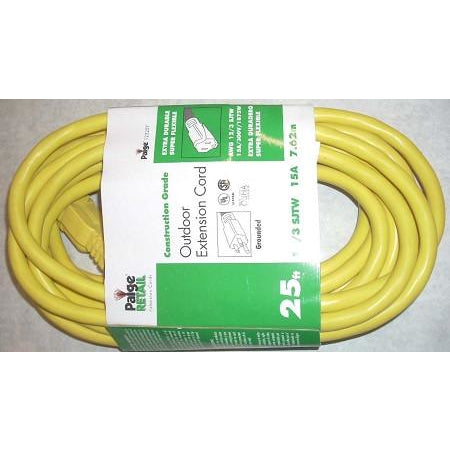 Paige Outdoor 12/3 Extension Cord 25' - ATL Welding Supply
