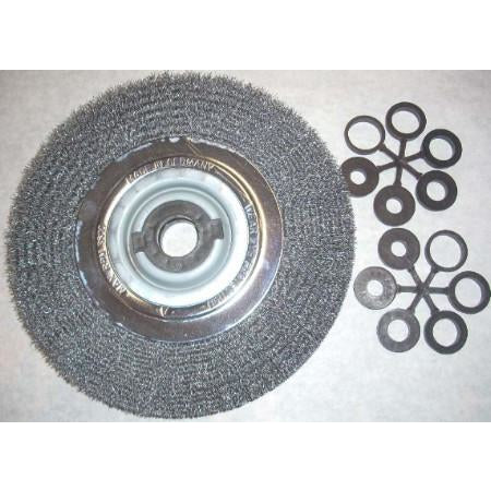 "10"" Bench Grinder Crimped Wire Wheel - ATL Welding Supply"