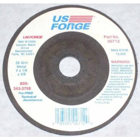 10 US Forge 4 x 1/8 x 5/8 Depressed Center Grinding Wheels - ATL Welding Supply