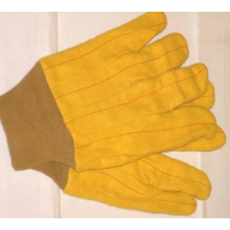 12 Pair Yellow Chore Gloves Dozen Size large - ATL Welding Supply
