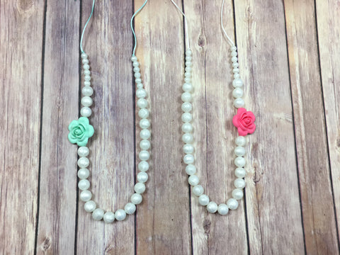 Pearl Necklace with a Twist. - Baby Nibblez, LLC