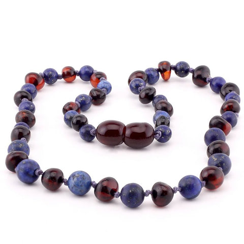 Baltic Amber Necklace | Blueberries & Chocolate - Baby Nibblez, LLC