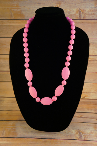 Oval Beaded Necklace - Baby Nibblez, LLC