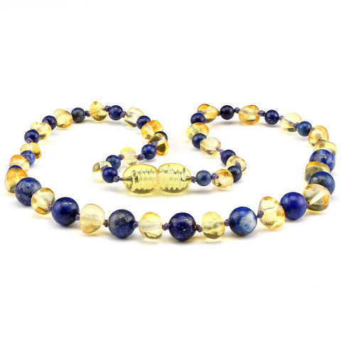Baltic Amber Necklace | Blueberries & Cream - Baby Nibblez, LLC