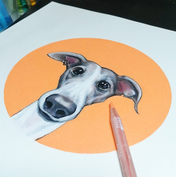Lurcher / Greyhound Fine Art Print