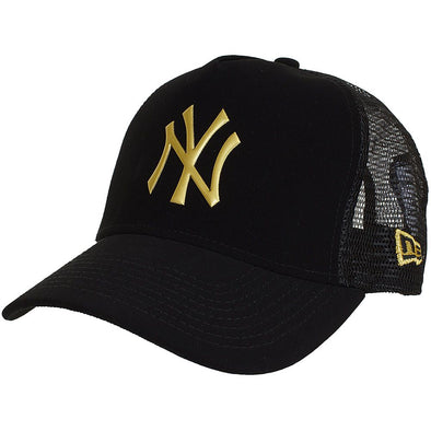 Casquette | NY NE Trucker Black / Gold Adjustable - Invog