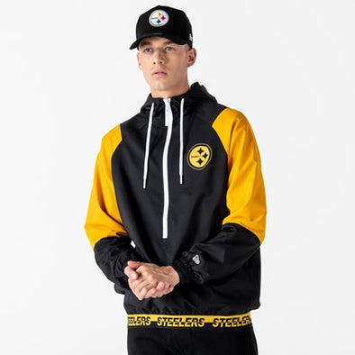 1/2 ZIP WIND BREAKER | PITTSBURGH STEELERS COLOUR BLOCK - Invog