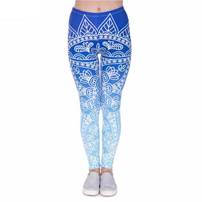 Blue Mandala leggings - Invog