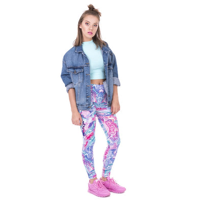 Perky flowers leggings - Invog