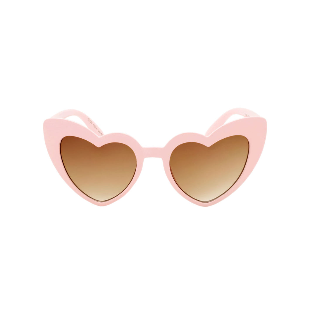 Girls Heart Shaped Sunglasses Ibiza Blush