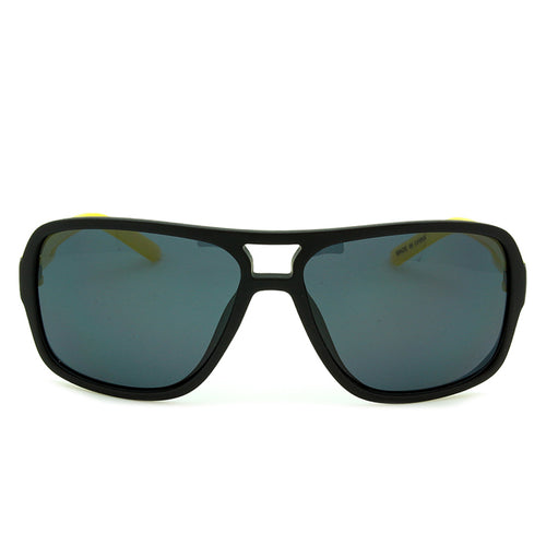 Boys Aviator Polarized Sunglasses Hollister Matte Black/Yellow