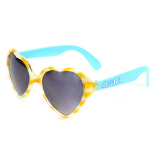 Girls Heart Shape Sunglasses Rio Yellow/Blue