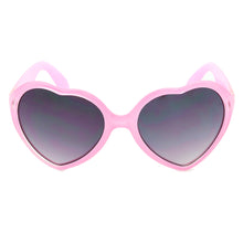Girl Pink Heart Shape Sunglasses