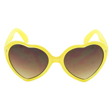 Girls Heart Shape Sunglasses Rio Sunflower