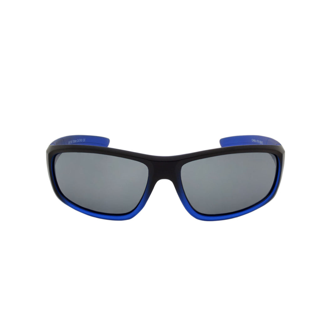 Boys Sport Wrap Sunglasses Bodyguard Two Tone Blue