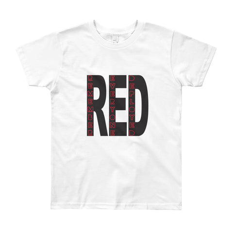 RED - Remember Everyone Deployed (Youth Short Sleeve T-Shirt)