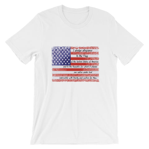 Pledge of Allegiance (Short-Sleeve Unisex T-Shirt)