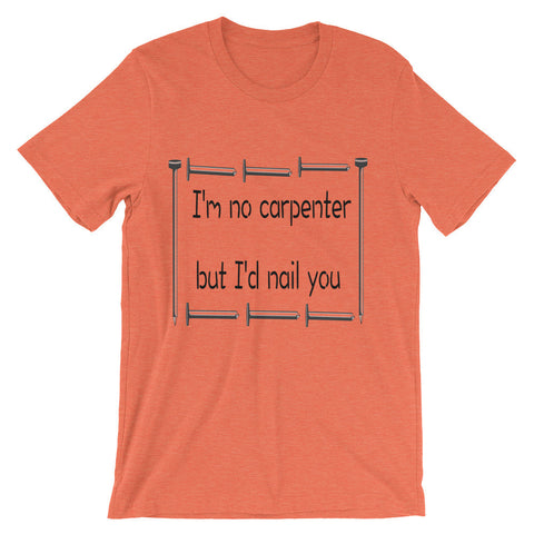 I'm no carpenter, but I'd nail you (short sleeve t-shirt)