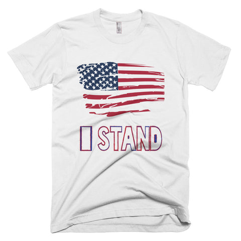 I stand American Flag (Short-Sleeve T-Shirt)
