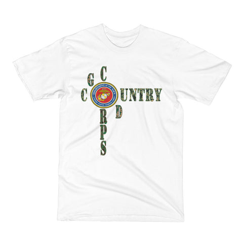Marine Corps - God, Corps, Country (Short Sleeve T-Shirt)