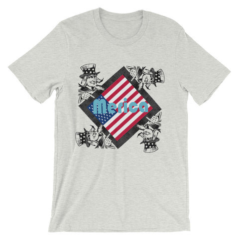 Uncle Sam's Merica (Unisex short sleeve t-shirt)