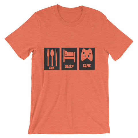 Eat Sleep Game (short sleeve t-shirt)