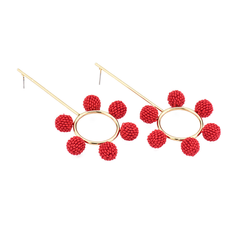 products murano ons clip leverbacks glass ball drop gold jkc solid red earrings