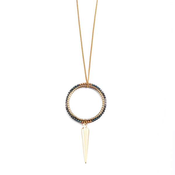 Daniela Salcedo x Mishky - Universe Necklace - Blue/Copper/Gray